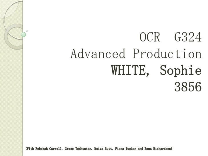White, sophie   QUESTION 1
