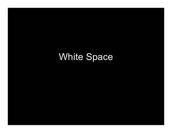 Space Principle Of Design : Principles of graphic design white space