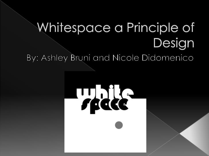 Space Principle Of Design : Whitespace a principle of design