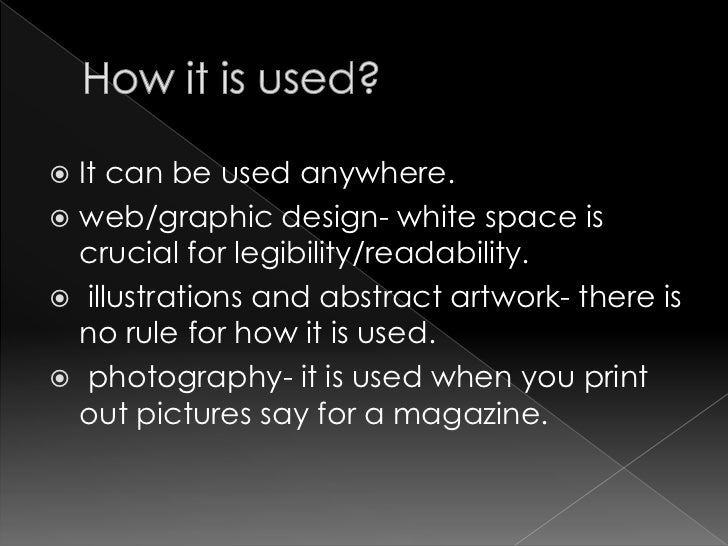 Space Principle Of Design : Whitespace a principle of design