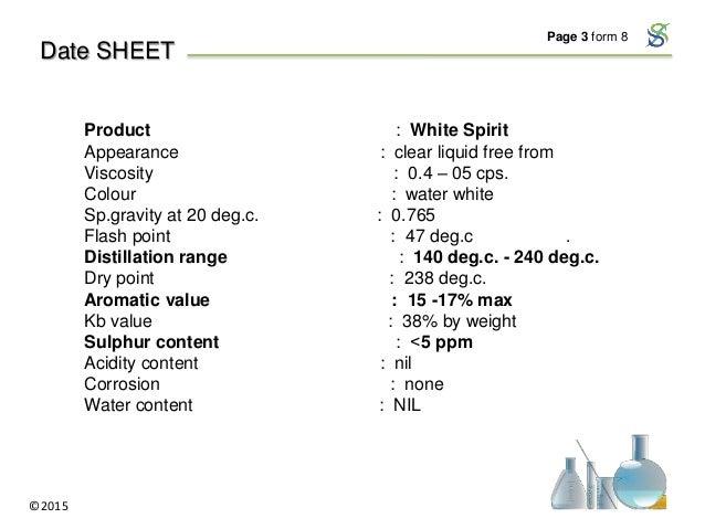 White Spirit Production & Wholesale