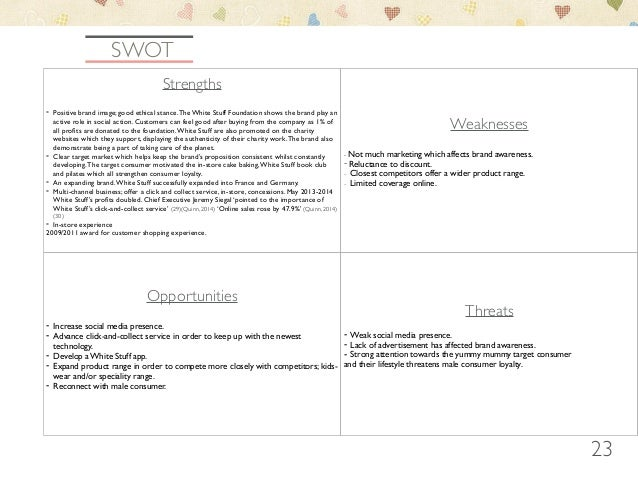 swot river island Contains a swot analysis and pestle analysis of river island.