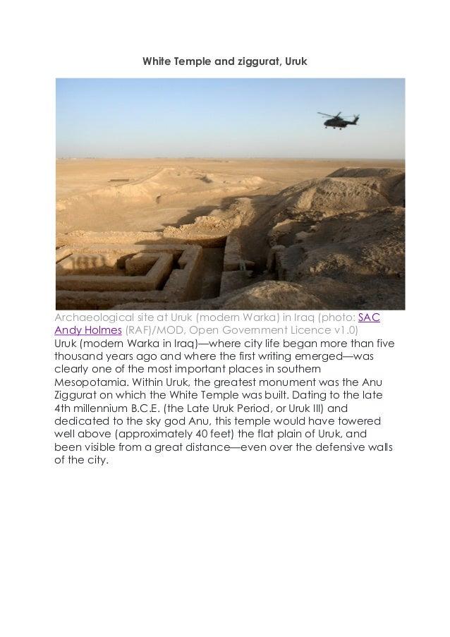 white temple and ziggurat