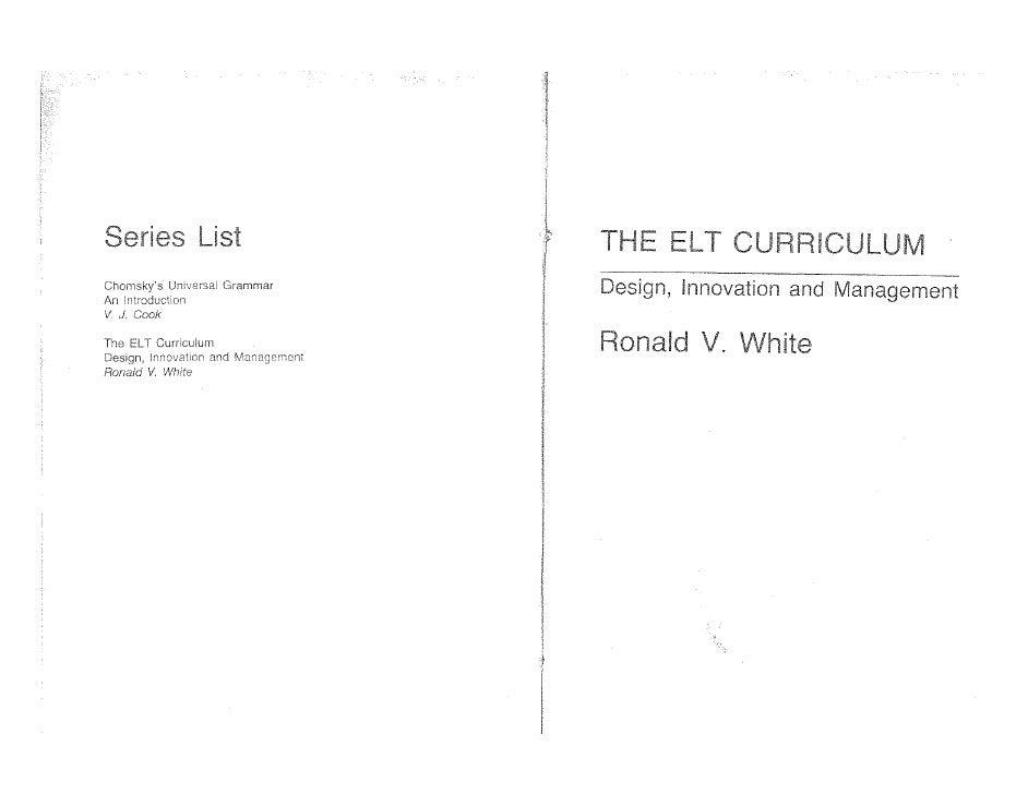 White the elt curriculum