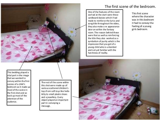 The first scene of the bedroom.                                                           One of the features of the room ...