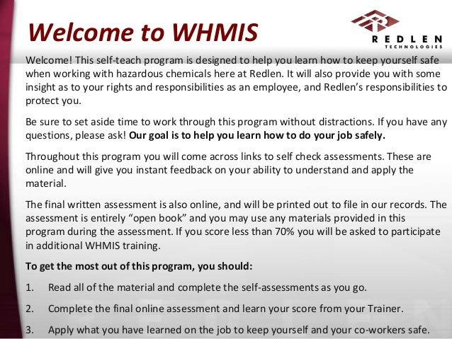 whmis training course for external publishing