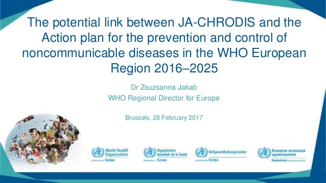 The potential link between JA-CHRODIS and the Action plan for the prevention and control of noncommunicable diseases in th...