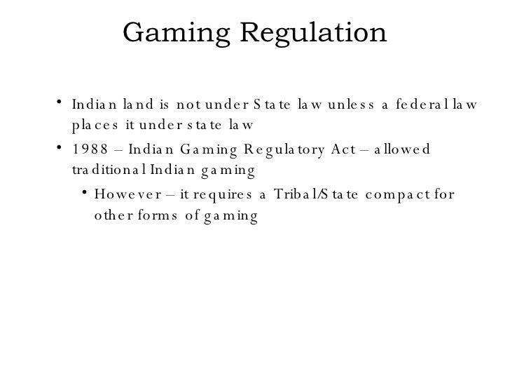 Indian gambling regulatory act jack gamble