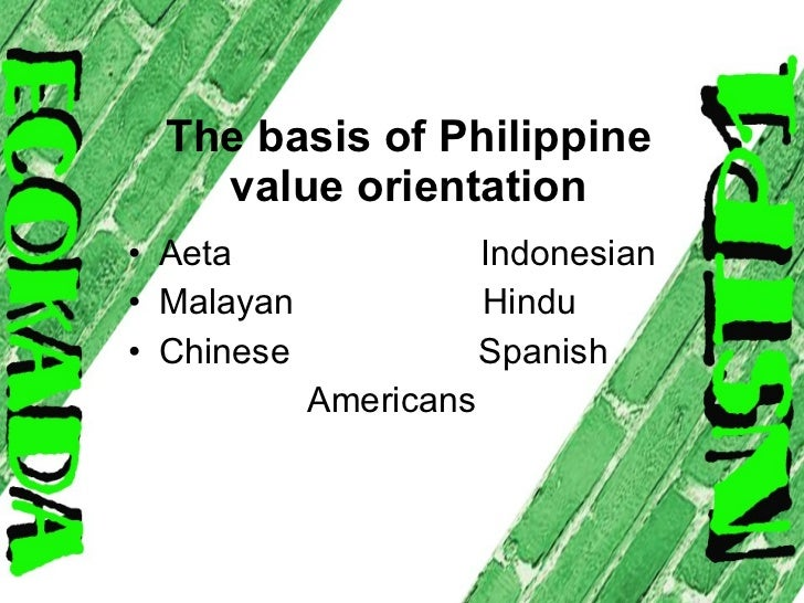 essay about basis of philippines value orientation As many as 93 percent of teenagers hear derogatory words about sexual orientation at least once in a while, with more than half of teens surveyed hearing such words every day at school and in the community 1.