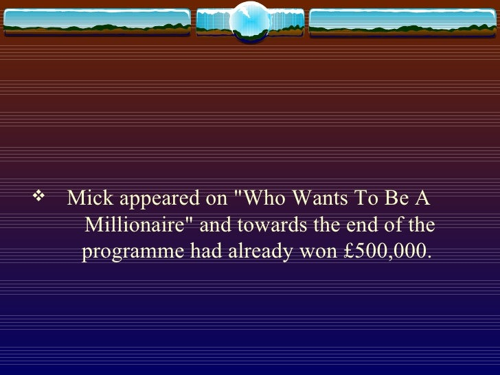 Who Wants To Be A Millionaire Slide 2