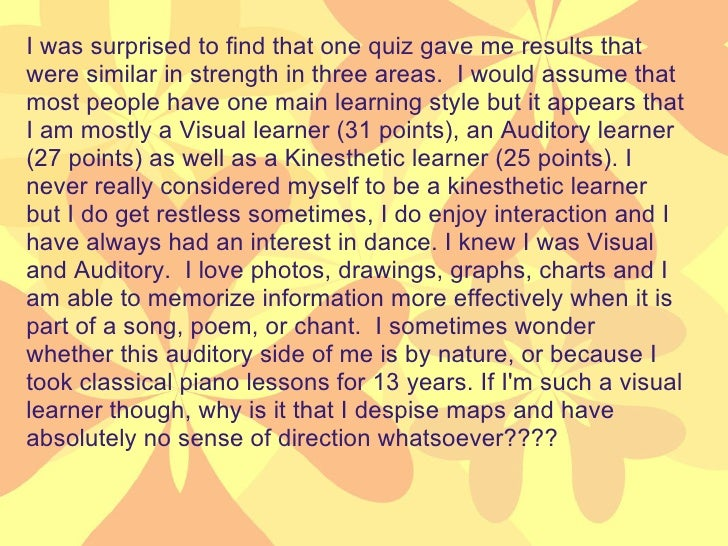 Who am i as a learner essay