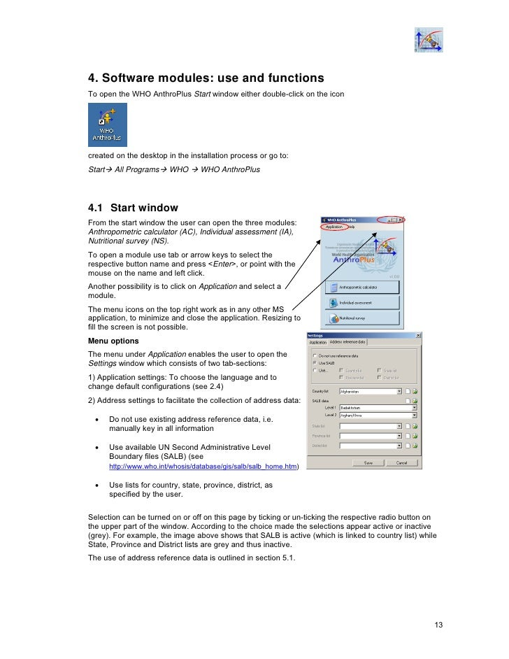 child growth standards software