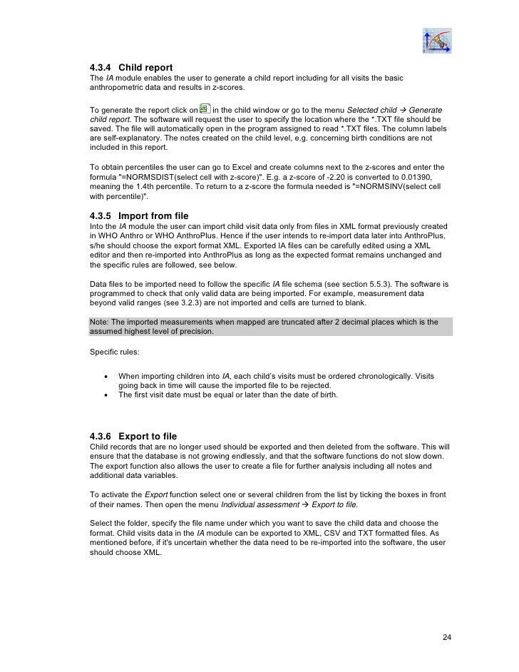 Who Anthroplus Manual