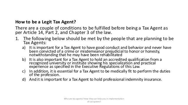 how to become an tax agent