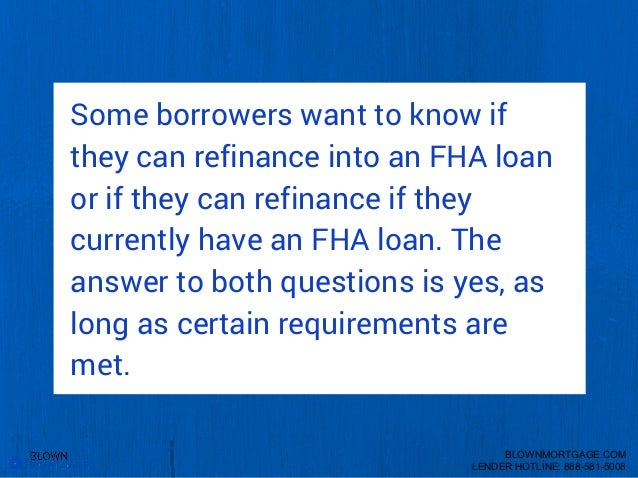 I Have A Conventional Loan And Want To Refinance
