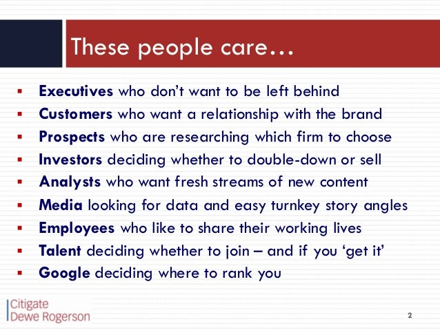 Who cares about social media? Slide 2