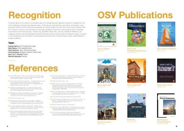 1817 OSV Publications Tales of the Combinatorial Enterprise October 2013 Unicorn Report May 2014 Who's hiring who? June 20...