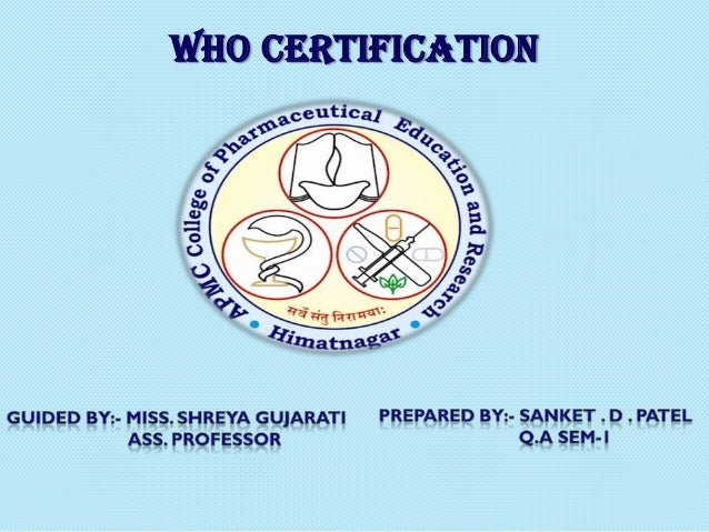 WHO CERTIFICATION