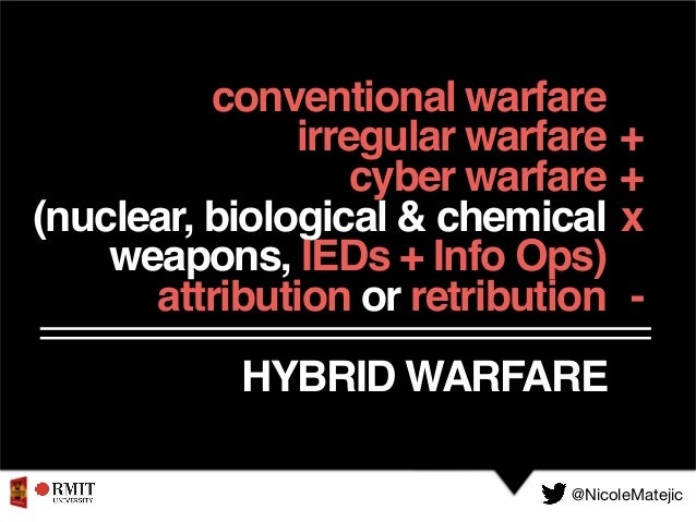 conventional warfare irregular warfare cyber