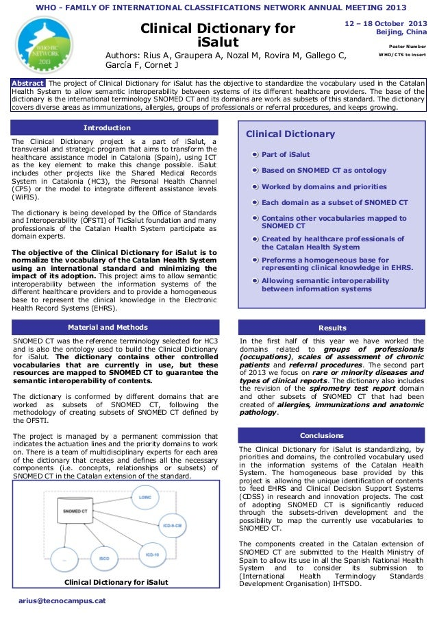WHO - FAMILY OF INTERNATIONAL CLASSIFICATIONS NETWORK ANNUAL MEETING 2013 12 – 18 October 2013 Beijing, China  Clinical Di...