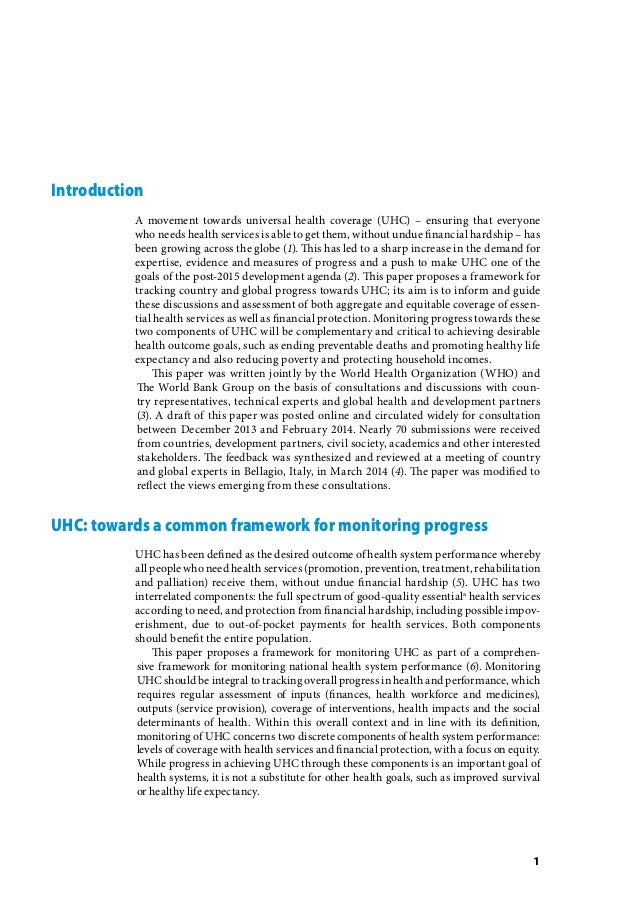 Monitoring progress towards universal health coverage at country and global levels Slide 3