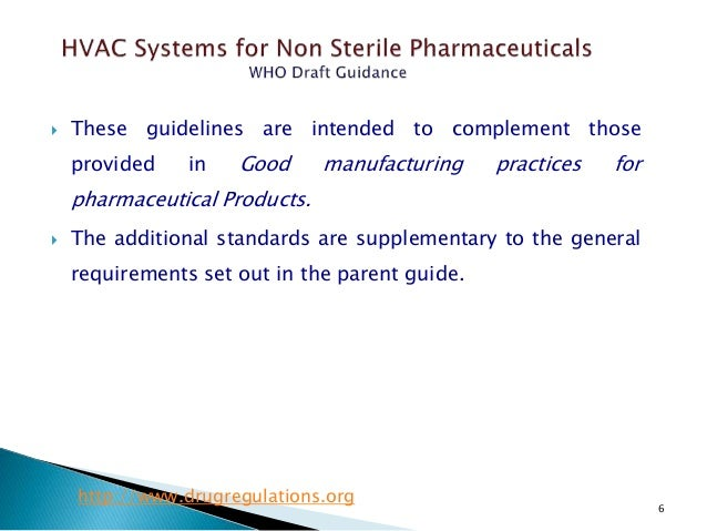 Who Guidance On Hvac Systems For Non Sterile Pharmaceuticals