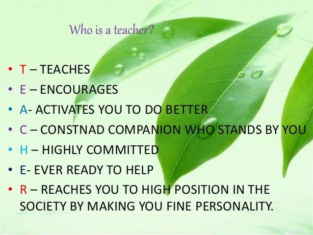 Who Is A Teacher