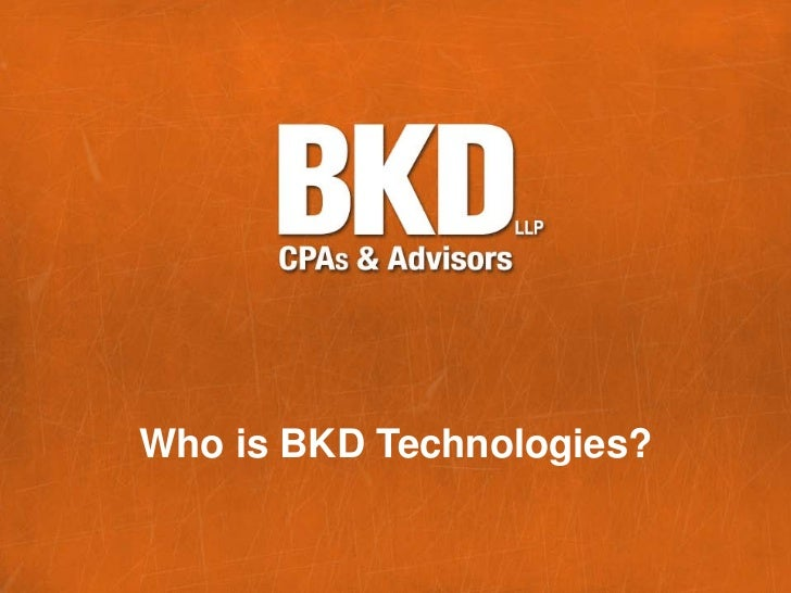 Who is BKD Technologies?