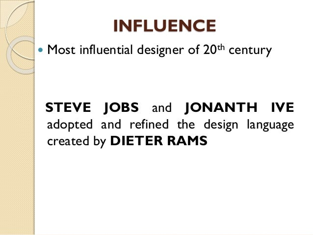 Who Is Dieter Rams