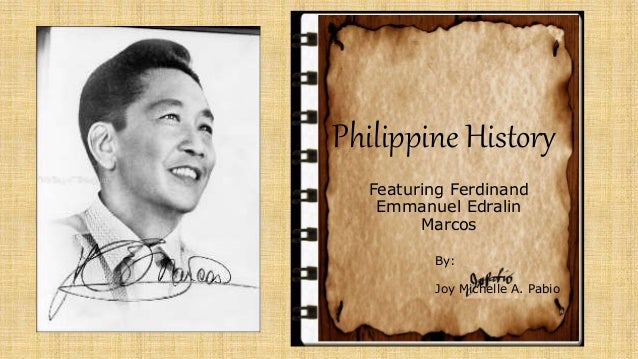 biography of ferdinand marcos