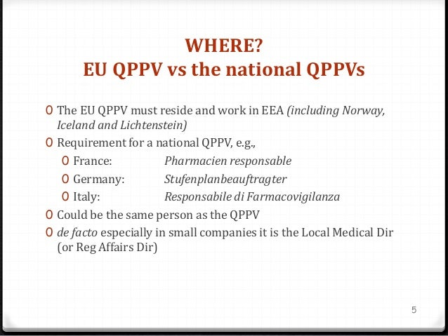 Who Is The Eu Qppv And What Do They Do
