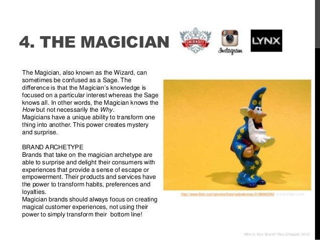 4. THE MAGICIANThe Magician, also known as the Wizard, cansometimes be confused as a Sage. Thedifference is that the Magic...