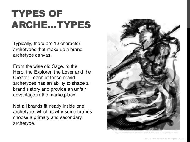 TYPES OFARCHE…TYPESTypically, there are 12 characterarchetypes that make up a brandarchetype canvas.From the wise old Sage...