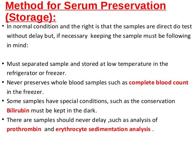 how to make serum from blood