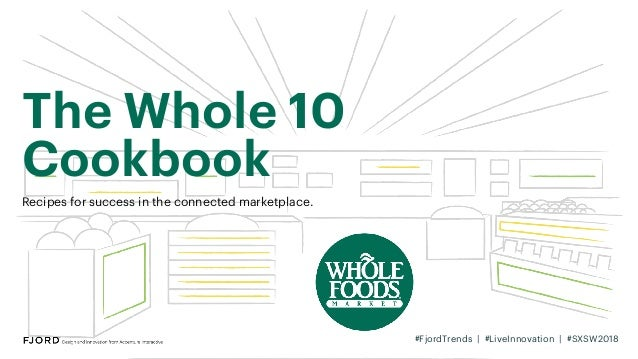 The Whole 10 Cookbook Recipes for success in the connected marketplace. #FjordTrends | #LiveInnovation | #SXSW2018