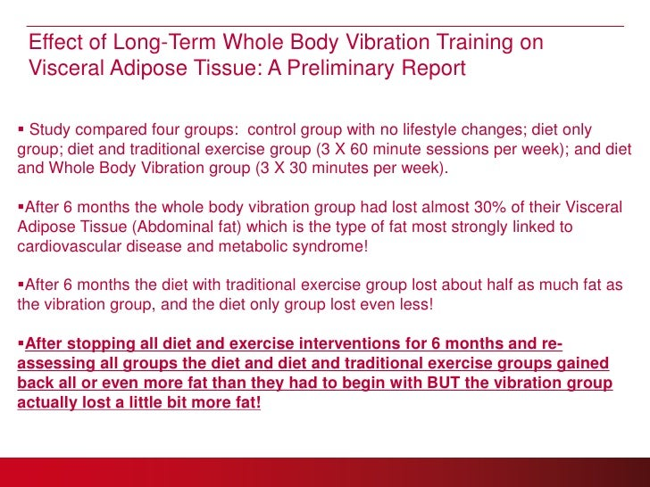 Whole Body Vibration For Health Clubs