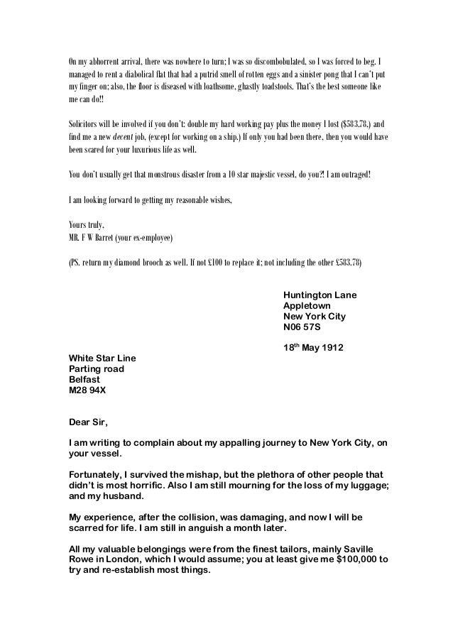 Whole class of letters complaint nov2014 13 spiritdancerdesigns Choice Image