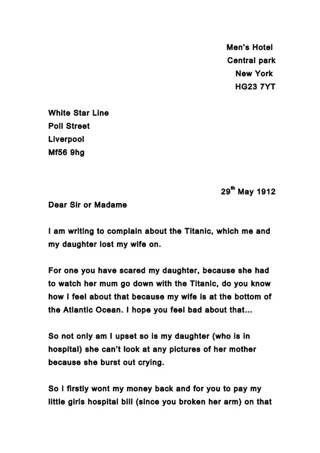 Whole class of letters complaint nov2014