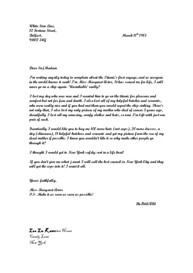Whole class of letters complaint nov2014 30 spiritdancerdesigns Choice Image