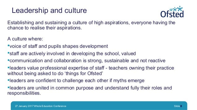 Growing great schools: what has the most impact? Slide 3