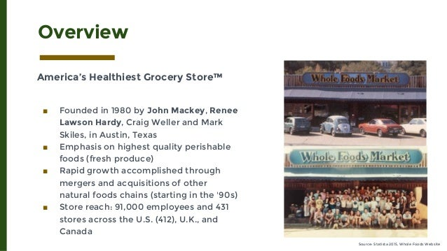 Whole Foods Mission Statement Analysis