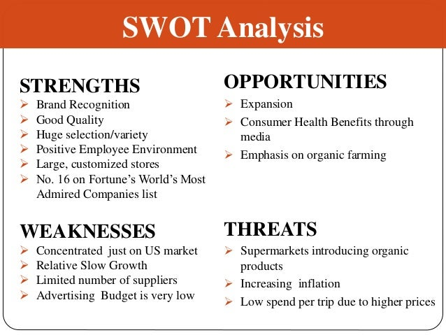 swot analysis apollo foods Marketing strategy - weight watchers is clearly the dominant company among weight-loss centers and programs so what are the company's marketing secrets let's take a.