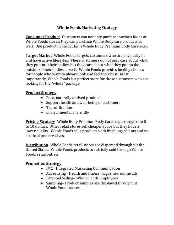 Whole foods marketing strategy term paper professional thesis statement editor for hire ca