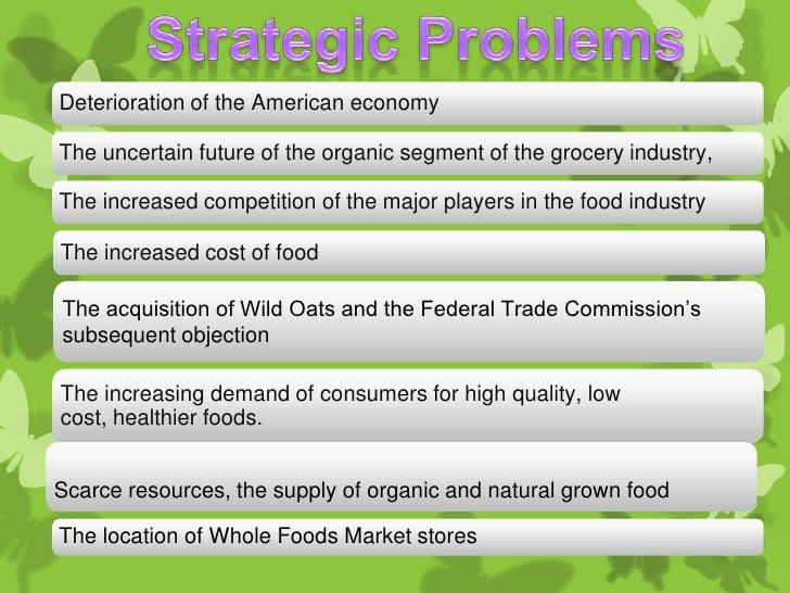 whole foods strtegic analysis Fundamental analysis on whole foods market inc key ratios, comparisons to grocery stores industry, retail sector, s&p 500 - csimarket.