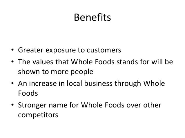 Who are Whole Foods' main competitors?
