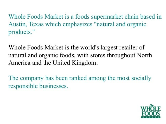 Total Number Of Whole Foods  Stores