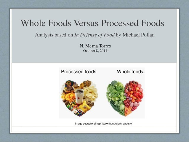 Difference Between Processed Food And Natural Food