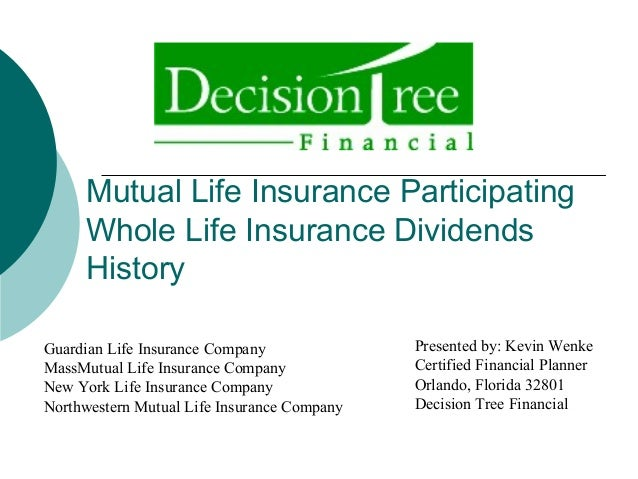 Mutual Life Insurance Participating Whole Life Insurance Dividends History Presented by: Kevin Wenke Certified Financial P...