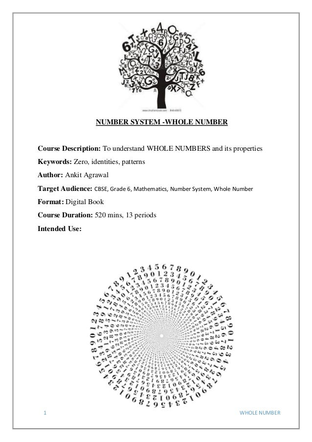 Whole number 1 whole number number system whole number course description to understand whole numbers and ibookread ePUb