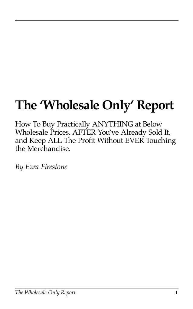 Buy Anything Wholesale Guide 1 Wholesale Supp by Pat ...